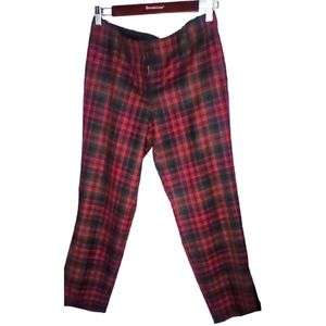 EUC 💞 J. Crew Red Plaid Cafe Capri Pants